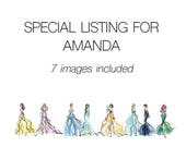 7 Disney Princesses,  Printable Art for Tiffany
