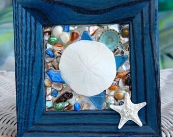 Sea Glass Turtle Art for Beach Decor, Sea Turtle Art, Beach Decor for Bathroom, Sea Turtle Wall Art, Turtle Art for Summer Decor