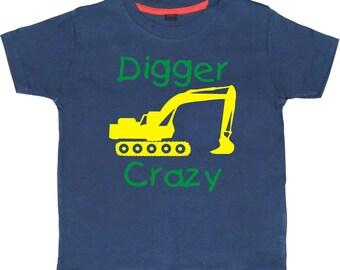 Digger Crazy. Childrens T-shirt