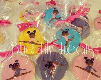 Gymnast Cookies- Gymnastic Poses- Customization Available, 1 dozen
