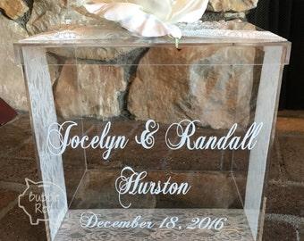 Personalized Wedding Card Box, Money Box, Wedding Gift Card Box, Wedding Card Box, Wedding Money Box, Wedding Card Holder