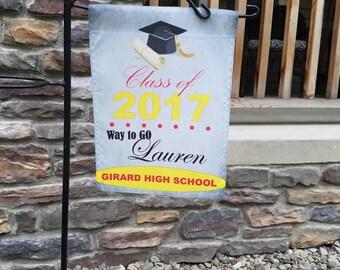 Graduation garden flag-Class of 2017
