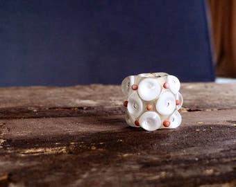 Dreadlock bead white