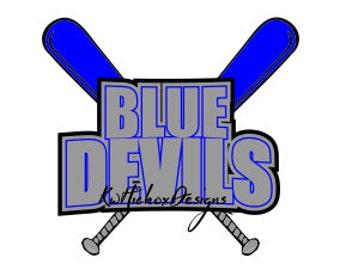 Blue Devils Baseball Svg