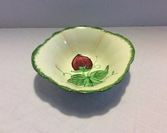 Vintage Blue Ridge Bowl -Handpainted Strawberry, Southern Pottery Co.