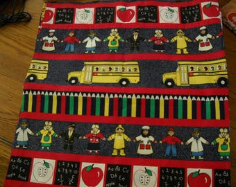 Set of 2 School Themed Curtains For Elementary Classrooms