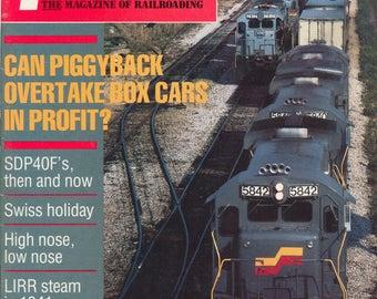 TRAINS February 1986 The Magazine of Railroading, Train Railroad Railroads Magazine!