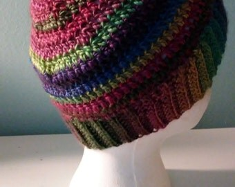 Ponytail - messy bun crochet hat