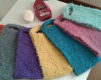 Peeling fiber for body skin care, knitting back scrub fiber