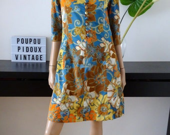 Robe vintage fleurie taille 38 - uk 10 - us 6