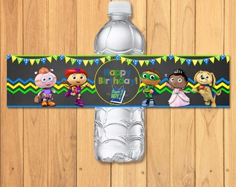 Super Why Drink Label Chalkboard * Super Why Birthday * Super Why Printables * Super Why Water Bottle Wrap * Super Why Party Favors