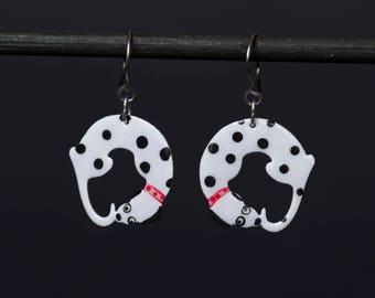 Dalmatian Dog Earrings, Dog Lover Gift, Animal Earrings, Personalized Dog Earrings, Custom Dog Earrings, Animal Jewelry