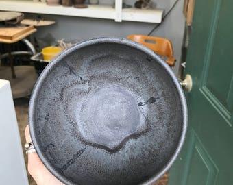 Handmade ceramic drippy bowl