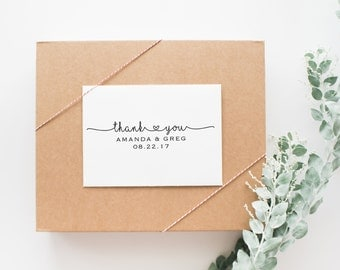Wedding Thank You Tag Stamp, Wedding Favor Stamp, Wedding Thank You Stamp, Self Inking Wedding Stamp