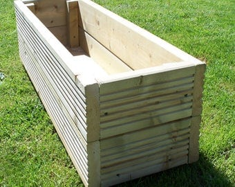 Hand Made Wooden Planting Box made from Tanalised Decking Timber.