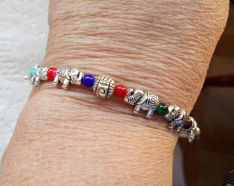 Elephant and Bead Bracelet