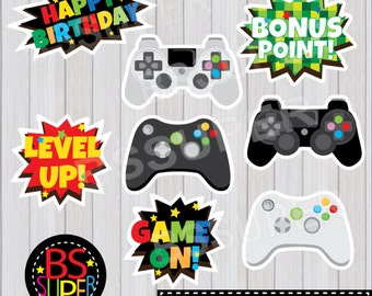 Video Game Party Centerpiece, Video Game Party Cake Topper, Video Game Party Wall Decor, Video Game Birthday Centerpiece