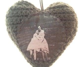 Personalised Crochet Photo Heart - Customised
