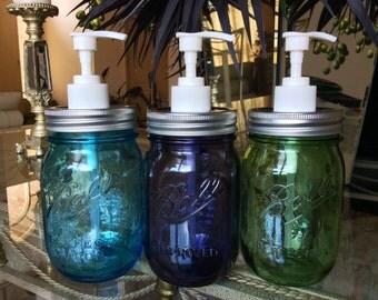 Ball Mason Jar Pump Dispenser for soap or lotion. Ball Heritage Collection Soap Dispenser Pump