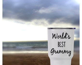 World's Best Grammy, Gigi cup, Mimi Cup, Camping cup, RTIC Waterproof vinyl decal sticker, Cup decal, Yeti Rambler, Personalized Yeti cup