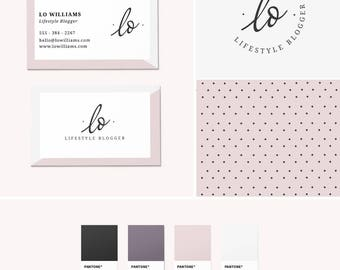 Pre-Made Branding Kit - Logo Design - Business Cards - Pattern Design - Lilac Branding