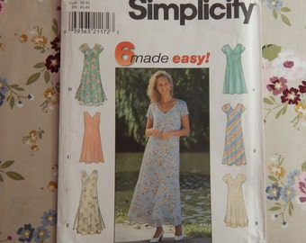 Summer Dress Pattern - 1997 Simplicity 7964 - 6 made easy