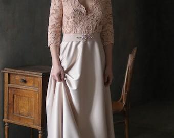 Vintage lace wedding dress, Vintage style dress, Vintage prom dress, Vintage bridesmaid, Vintage gown, 0110 // 2017
