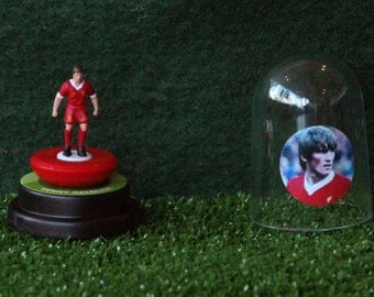 Kenny Dalglish (Liverpool) - Hand-painted Subbuteo figure housed in plastic dome.