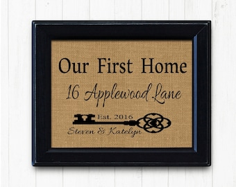 New Home Sign| Housewarming Gift, Gift for New Home, New Home Gift,