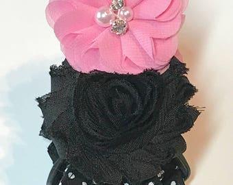 Black Polka Dot Dog Harness ~ Step In ~ Polka Dot Design ~ Matching Leash Available