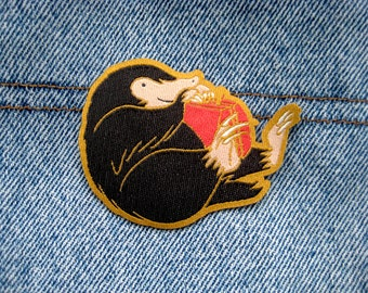 Harry Potter - Niffler Iron on Patch, Fantastic Beasts and Where to Find Them