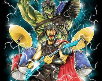 Ragna-Rock | Ragnarok Parody | Premium Quality Giclee Archival Poster Print