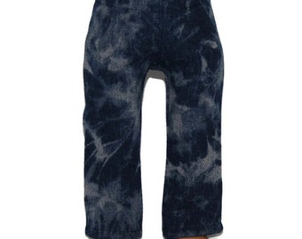 """Tie Dyed Denim Jeans/Pants - Dark Blue- Doll Clothes fits 18"""" American Girl Dolls"""