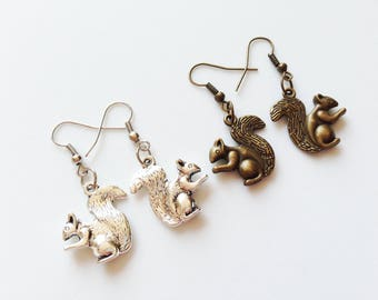 CHIPMUNK Earrings Chipmunk Jewelry Chipmunk Pendant Squirrel Earrings Squirrel Jewelry Squirrel Pendant Squirrel Gift Chipmunk Gift Animal