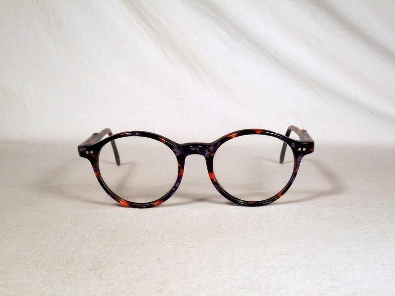 ce09f258a6 fabulous vintage sunglasses lunettes eyeglasses 1970 round carved frame  france rare