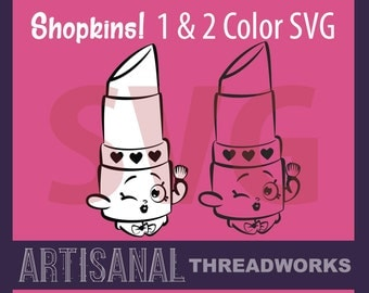 Shopkins SVG -  Minimalist Simple Single and Two Color Cutting Files and Clip Art - png, jpg, svg