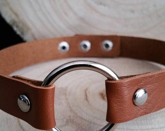 Brown O Ring Choker