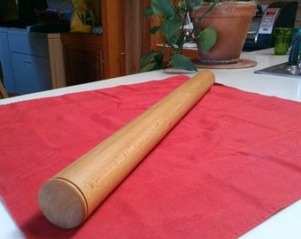 Rolling Pin, Cookie/Pie Dough Roller, Hardwood Pasta Roller