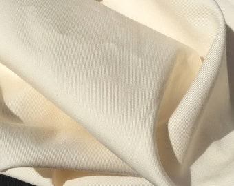 "60"" Ivory Tencel Gabardine Twill Eco-Friendly Apparel Medium Weight Woven Fabric By The Yard"