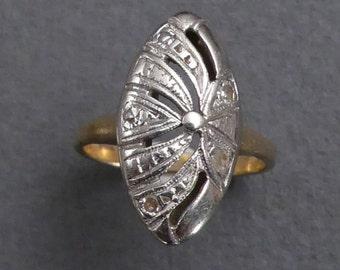 14K TINY diamond ring size size 1.5