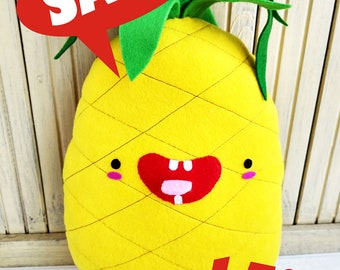 Pineapple Plush Toy Pillow - Kawaii Handmade Fruit Pillow - Free Shipping