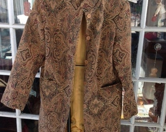 3/4 length cotton tapestry jacket, Isabella Bird