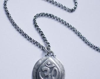 Sterling Silver Ganesha Amulet Necklace, Silver Ganesha Pendant Necklace, Silver Ganesha Charm Necklace, Silver Ganesha Talisman Necklace