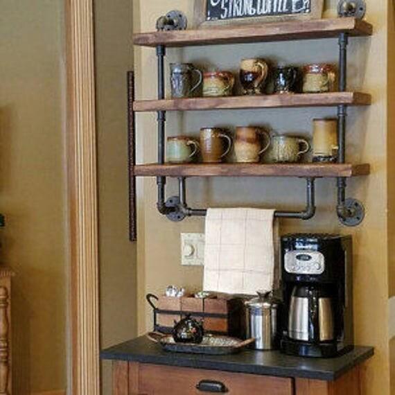 Industrial Pipe Kitchen: Industrial Pipe Shelf Bathroom Shelves Kitchen Shelves