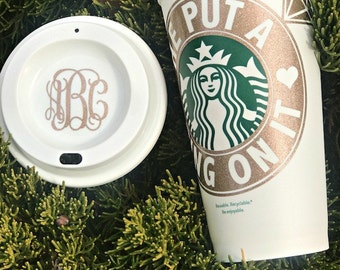 Starbucks Bride Cup, Bride Mug, Starbucks Bridesmaid Gift, Bridal Shower Gift, Bachelorette Party, Engagement Gift, He Put a Ring on it