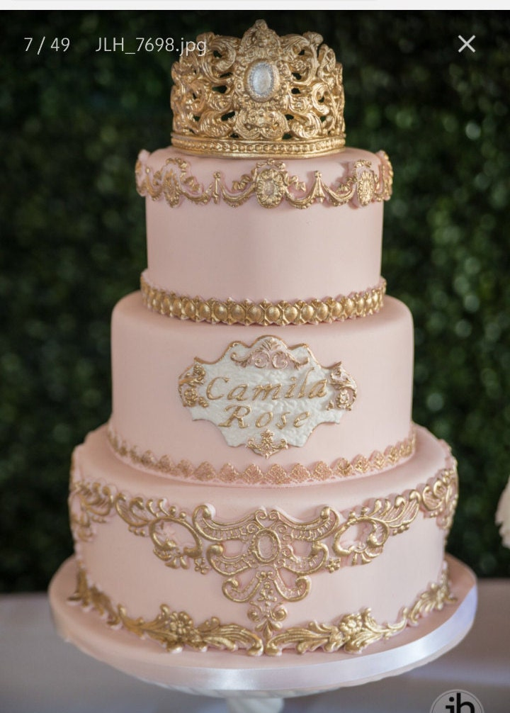 3 Tier Princess Fake Cake Covered With Fondant Cake Dummy Photo - Wedding Cake Dummy