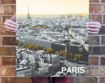 Paris Skyline Poster 11x17 18x24 24x36