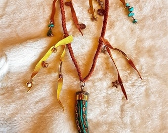 FREE SHIPPING!!! leather necklace,fringes,boho,hippie, chic,tribal,gypsy,ethnic,etnico,collar de piel,flecos