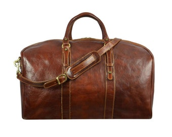 Leather Travel Bag,Leather Duffel Bag,Weekend bag,Duffle Bag,women duffel bag,mens duffel bag,Gym Bag,overnight bag-The Heart of The Matter