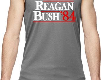Men's Reagan Bush 1984 Moisture Wicking Tank Top REAGAN84-703